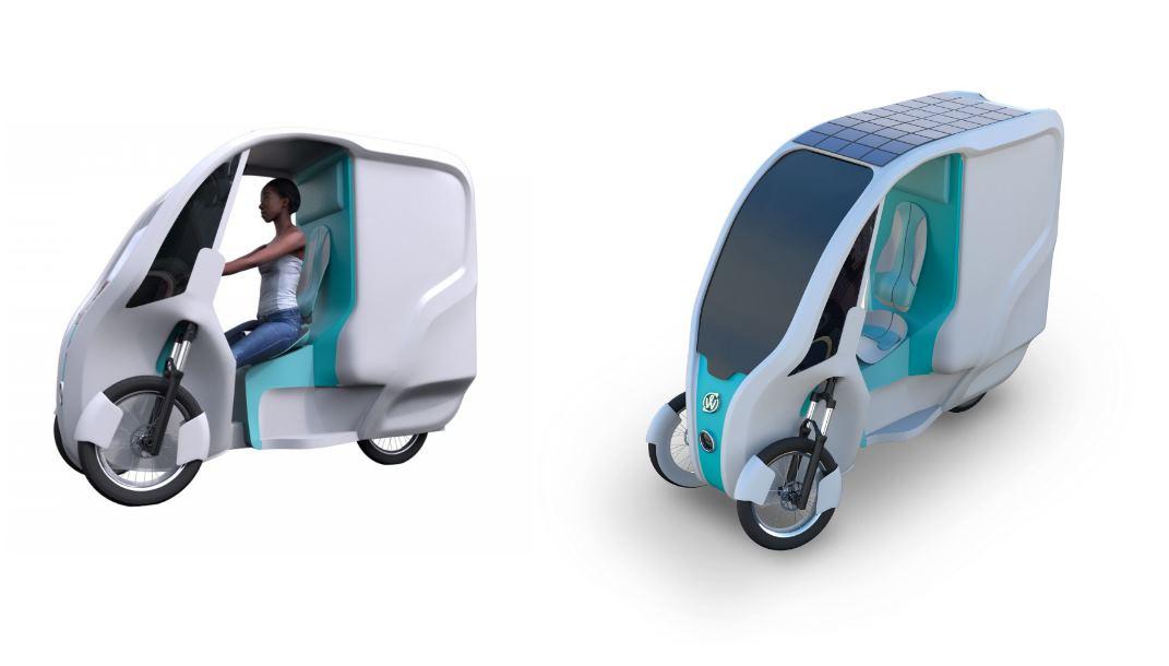 Un triciclo eléctrico con techo solar para repartir en las ciudades.
